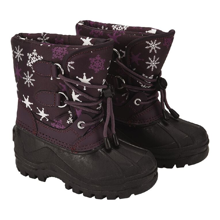 Young Original Kids' Hail Snow Boots, Plum, hi-res