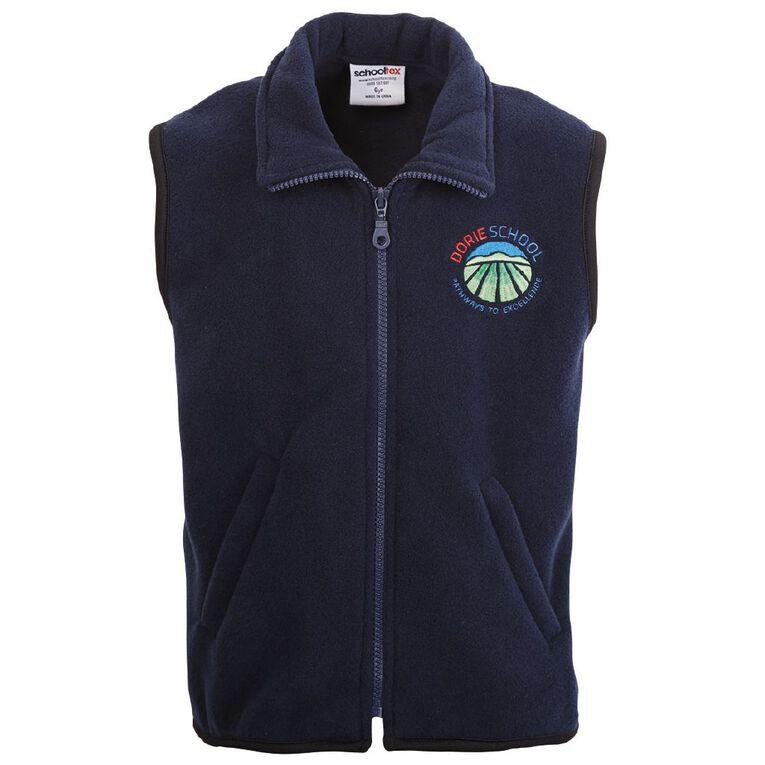 Schooltex Dorie School Polar Fleece Vest with Embroidery, Navy, hi-res
