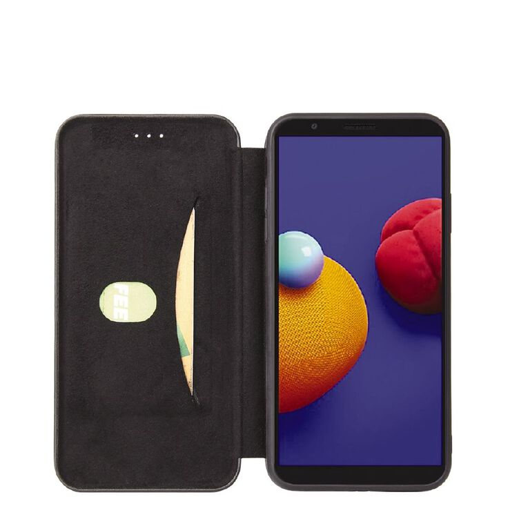 INTOUCH Samsung A01 Core Milano Wallet Case Black, , hi-res