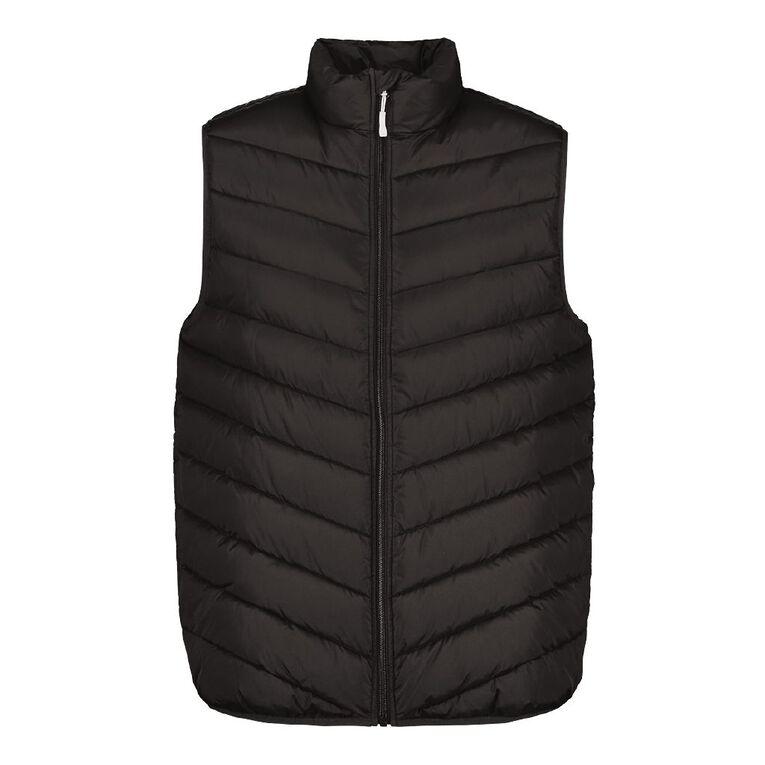 H&H Men's Recycled Puffer Vest, Black, hi-res
