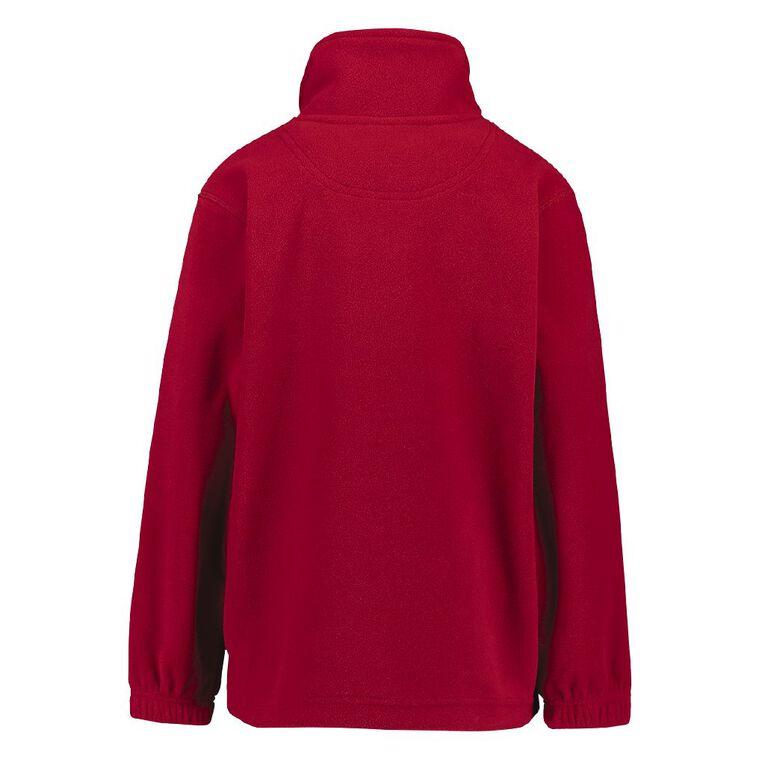 Schooltex Stanhope Road School Polar Fleece Top with Embroidery, Red, hi-res