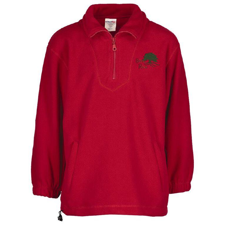Schooltex Barton Rural Polar Fleece Top with Embroidery, Red, hi-res