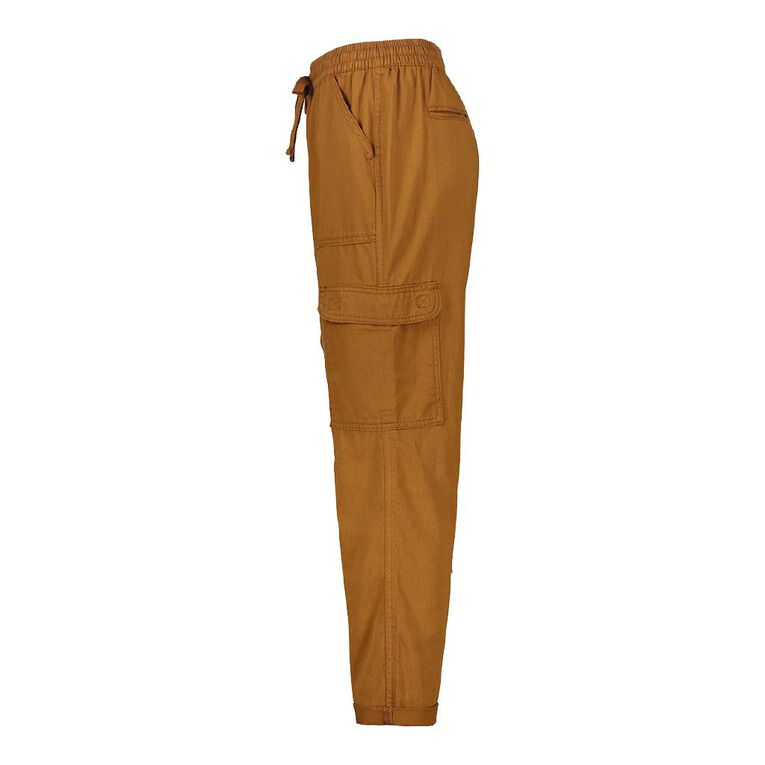 H&H Women's Cuffed Chino Pants, Orange Dark, hi-res
