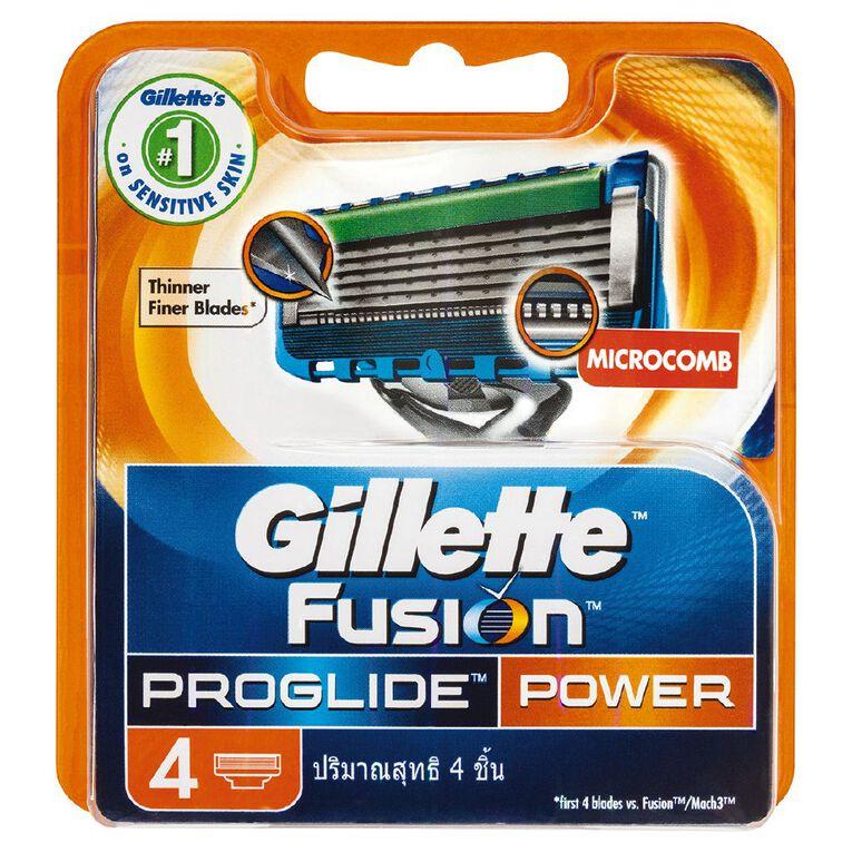 Gillette Fusion ProGlide Power Razor Cartridge 4 Pack, , hi-res