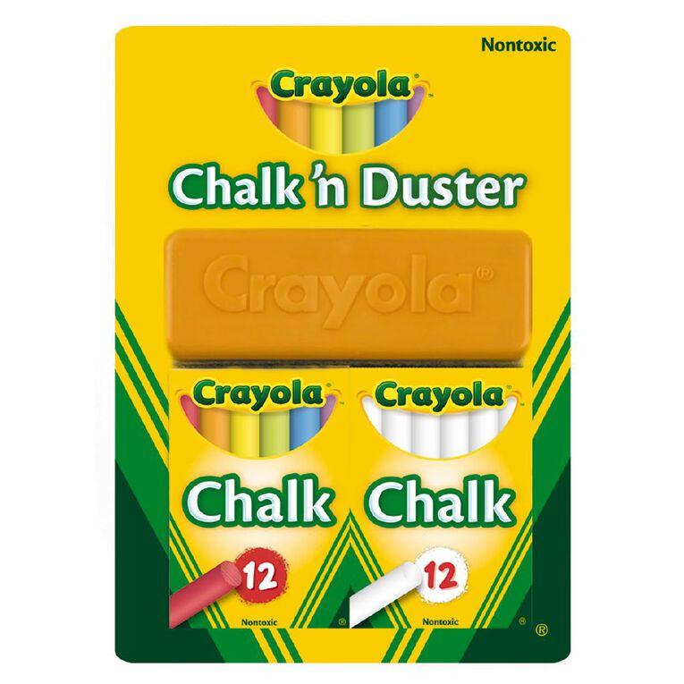 Crayola Chalk N Duster 24 Pack, , hi-res