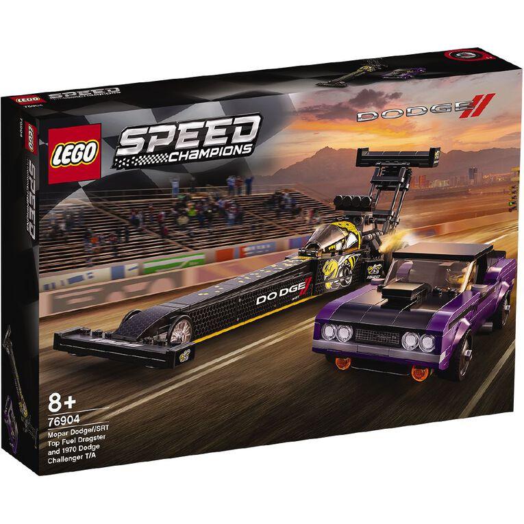 LEGO Speed Champions Mopar Dodge SRT & 1970 Dodge Challenger 76904, , hi-res