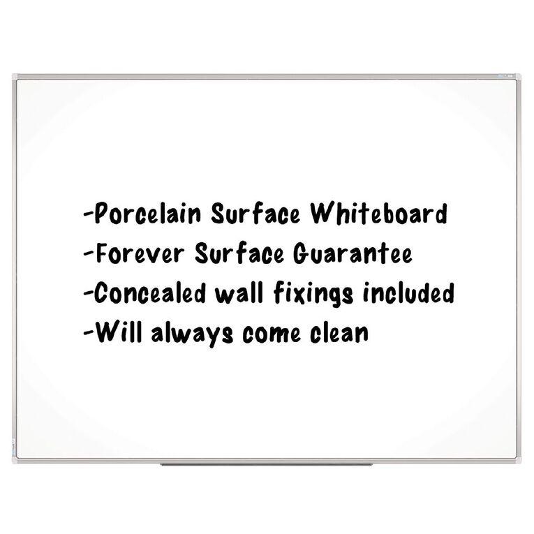 Boyd Visuals Porcelain Whiteboard 900 x 1200mm White, , hi-res