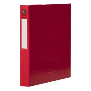 WS Ringbinder 2D 25mm Red A4