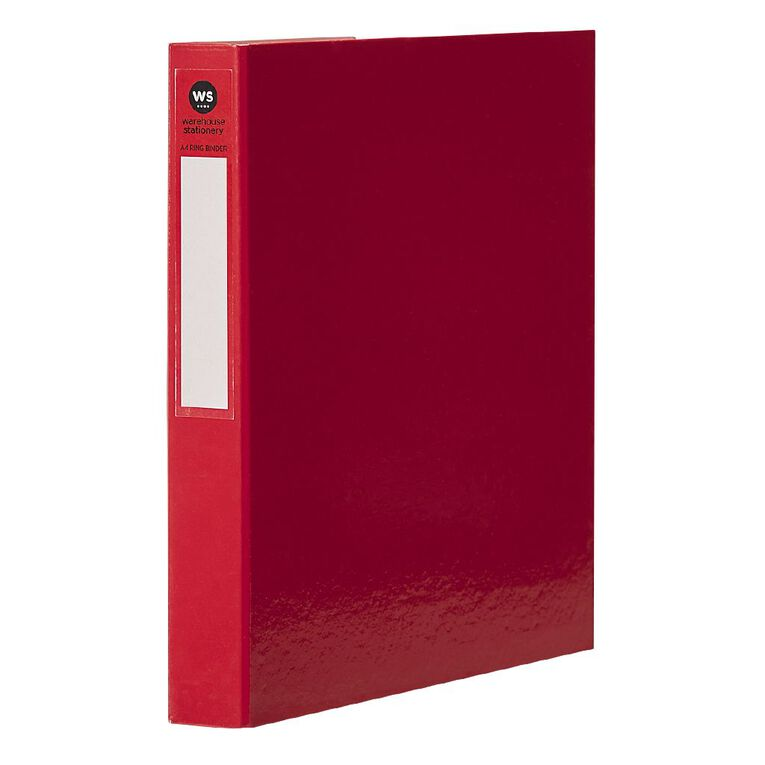 WS Ringbinder 2D 25mm Red A4, , hi-res