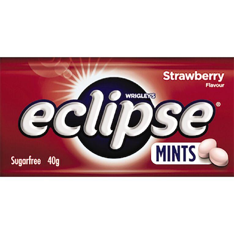 Eclipse Strawberry Mints Sugar Free Large Tin 40g 40g, , hi-res