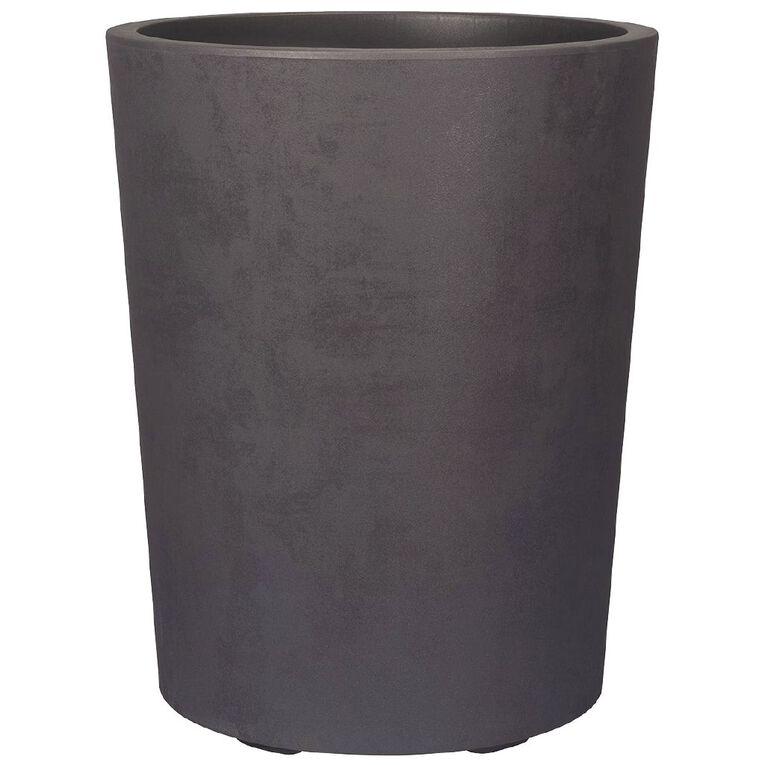 Deroma Plastic Vaso Millennium Pot Grey 53cm, , hi-res