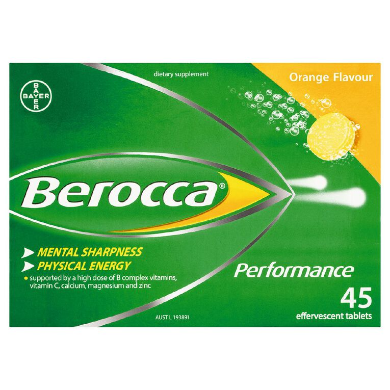 Berocca Performance Effervescent Tablets Orange 45s, , hi-res