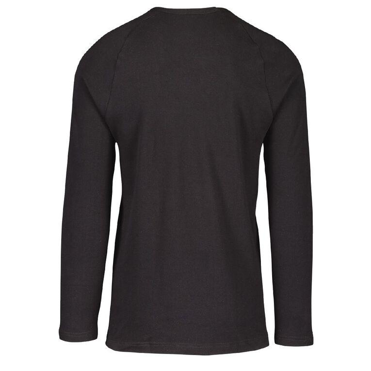 Underworks Men's Long Sleeve Thermal, Black, hi-res