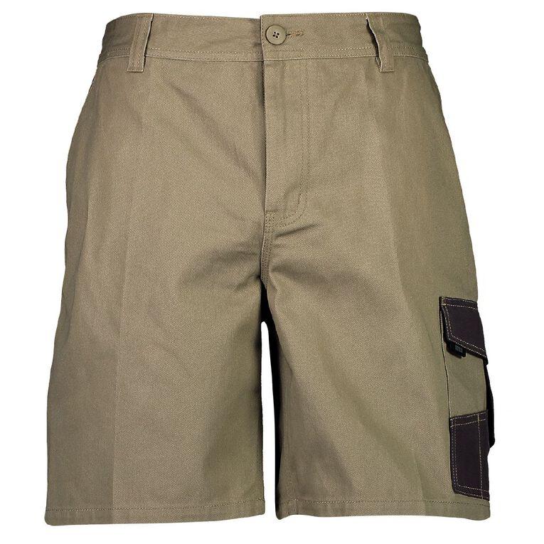 Rivet Men's Utility Shorts, Tan, hi-res