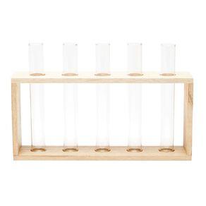 Living & Co Wooden Multi Tube Vase Set Natural