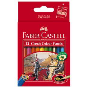 Faber-Castell Classic Colour Pencils Half Size 12 Pack