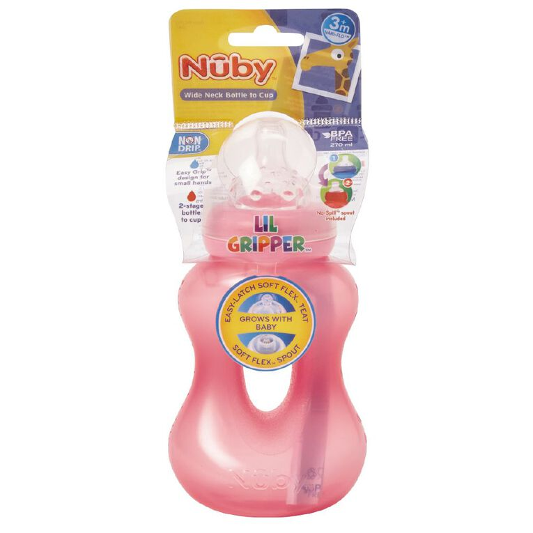 Nuby Lil Gripper Bottle and Cup Assorted, , hi-res