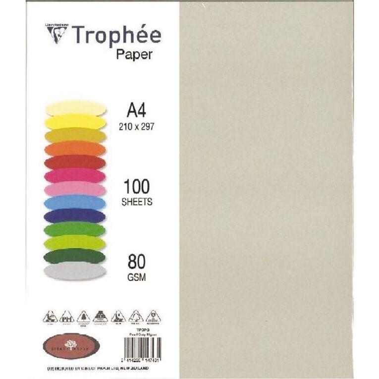 Trophee Paper 80gsm 100 Pack Pearl Grey A4, , hi-res