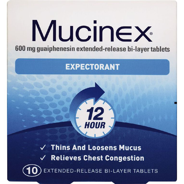 Mucinex Expectorant 12 Hour Tablets 10 Pack, , hi-res