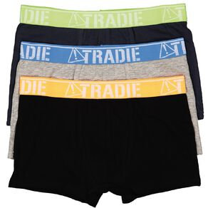 Tradie Boy's Fitted Trunks 3 Pack