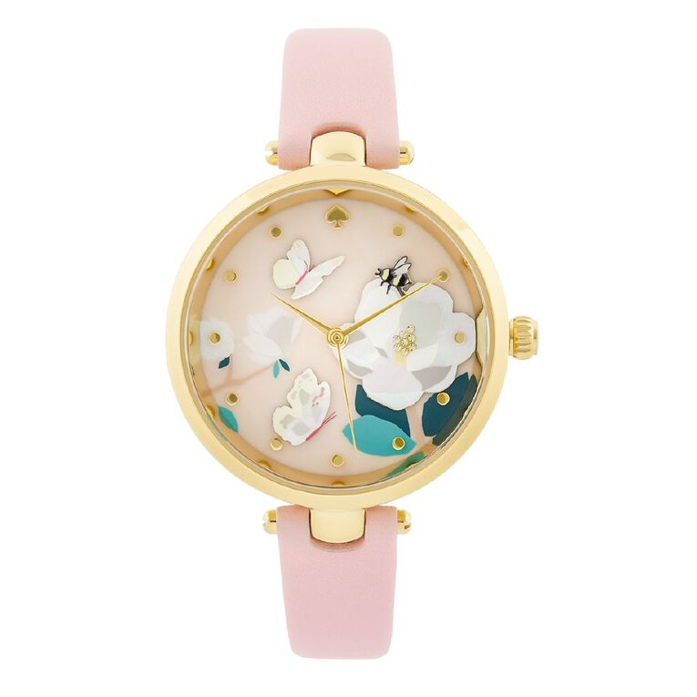 Kate Spade Holland Magnolia Pink Leather Watch, , hi-res