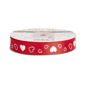 Party Inc Heart Ribbon 15mm x 20m Red