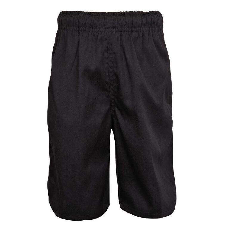 Schooltex Kids' Baggy Fit Shorts, Black, hi-res