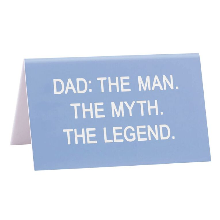 Desk Sign Dad the Legend 11.5cm x 6cm x 7cm, , hi-res