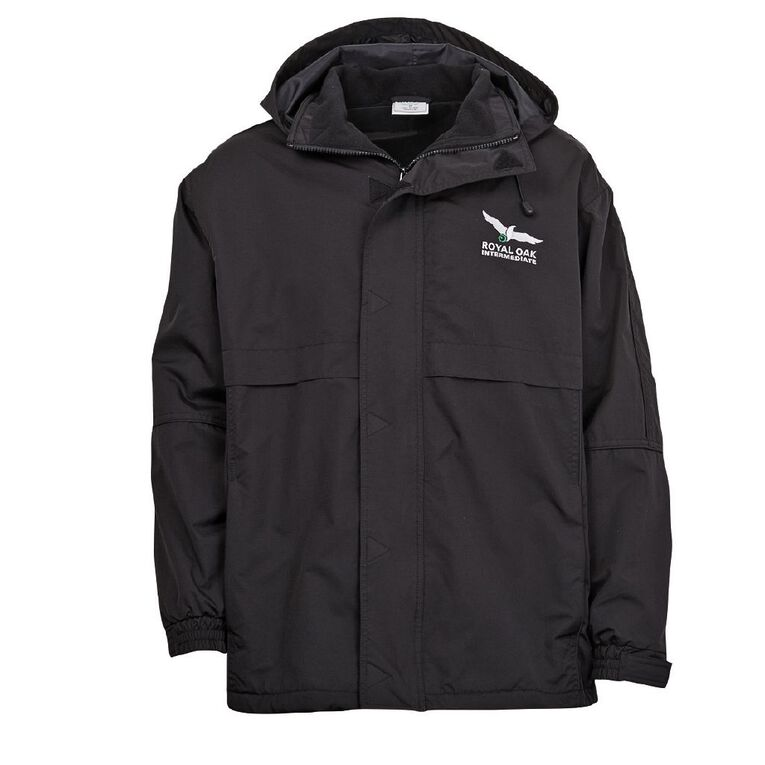 Schooltex Royal Oak Intermediate Anorak with Embroidery, Black, hi-res