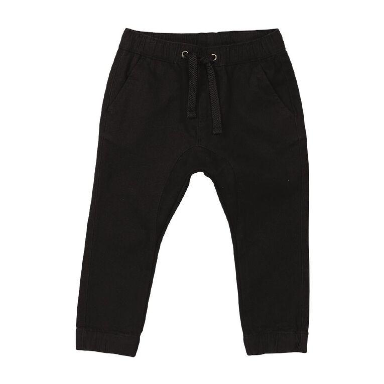 Young Original Toddler Plain Chino Pants, Black, hi-res