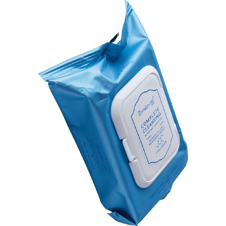 The Creme Shop Collagen Cleansing Towelettes 30 Pack, , hi-res