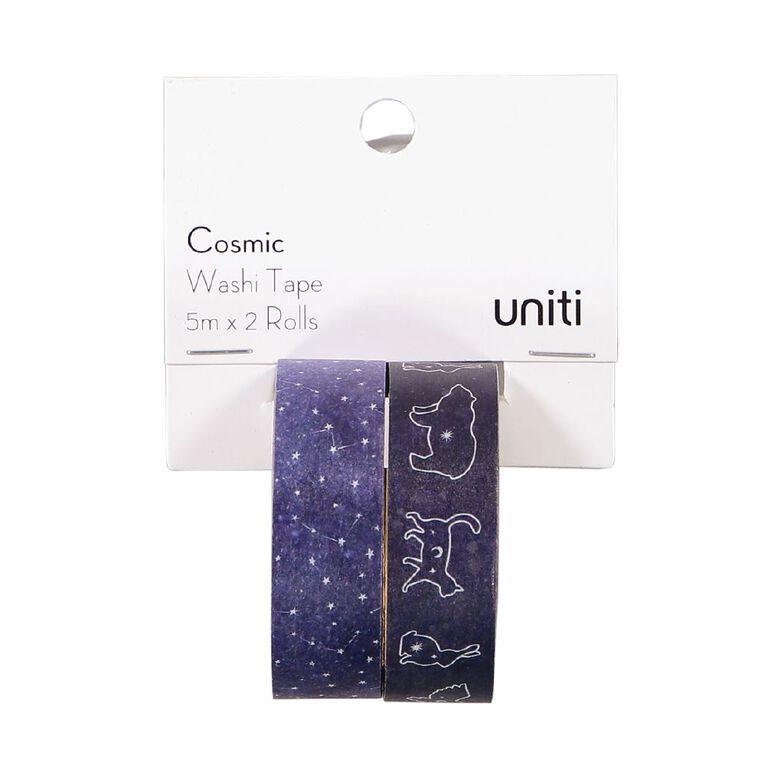 Uniti Cosmic Washi Tape Animals and Stars 5m x 2 Rolls, , hi-res