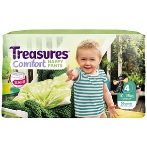 Treasures Jumbo Slimfit Toddler Nappy Pants 56 Pack