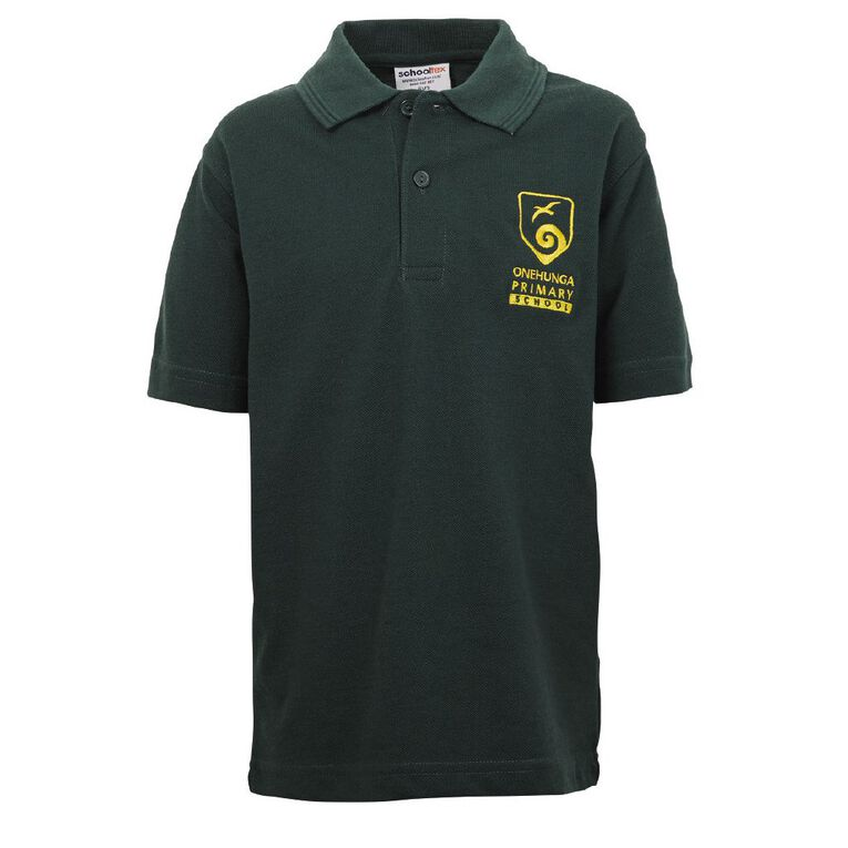 Schooltex Onehunga Primary School Short Sleeve Polo with Embroidery, Bottle Green, hi-res