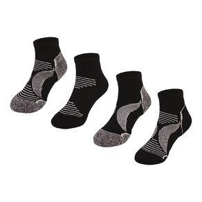 Active Intent Kids' Low Cut Socks 4 Pack
