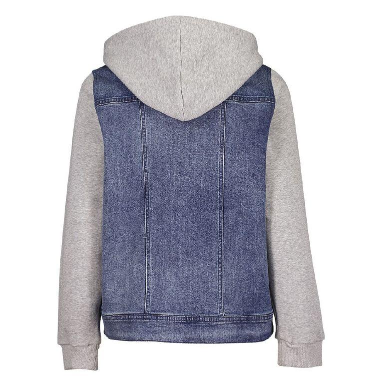 Young Original Contrast Denim Jacket, Blue Mid, hi-res