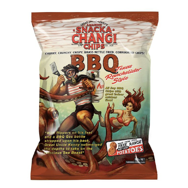 SnackaChangi Kettle Chips BBQ Texas Ranchslider Style 150g, , hi-res image number null