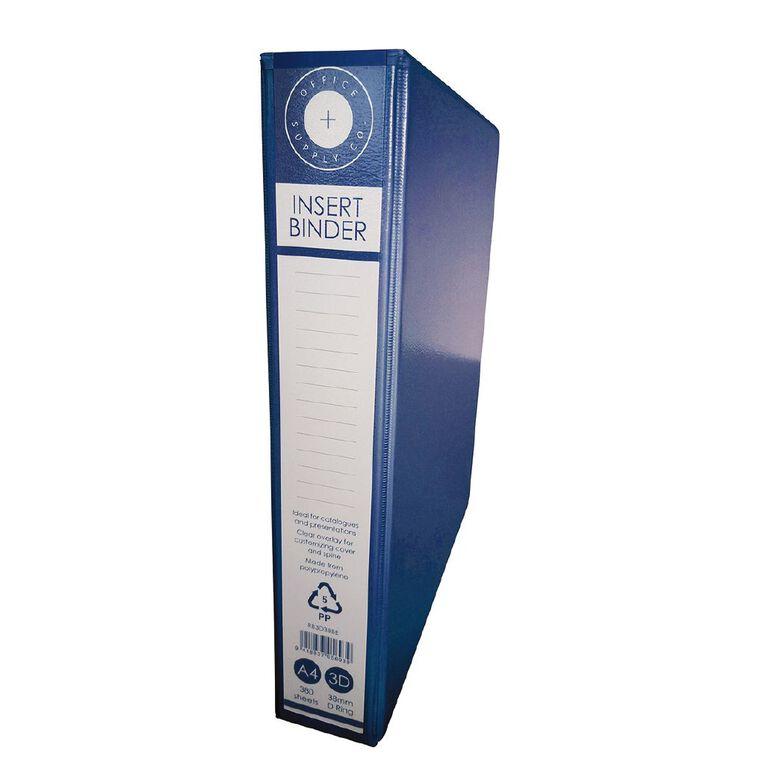 Office Supply Co 3D 38mm Ringbinder Blue A4, , hi-res