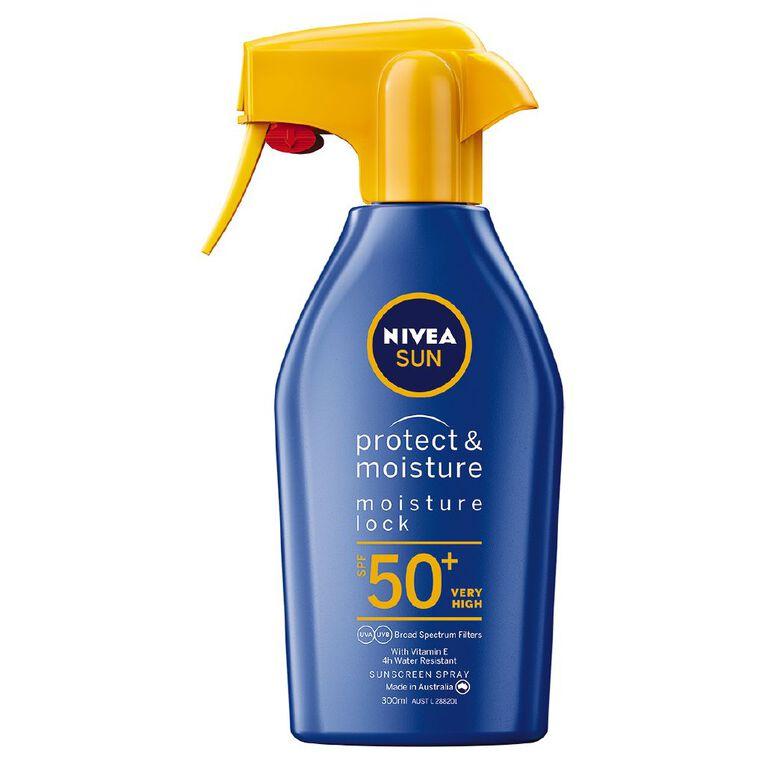 Nivea Sun Protect & Moisture Sunscreen Spray Trigger SPF50+ 300ml, , hi-res