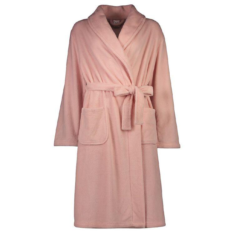 H&H Women's Coral Fleece Robe, Pink, hi-res