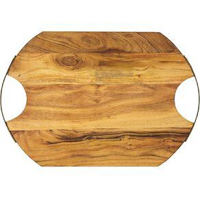 Living & Co Acacia Serve Board Oval 50.5cm