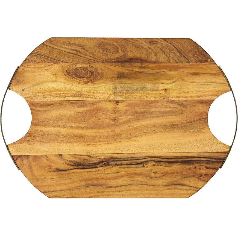 Living & Co Acacia Serve Board Oval 50.5cm, , hi-res
