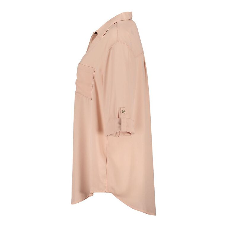 H&H Women's Chiffon Shirt, Pink Light, hi-res