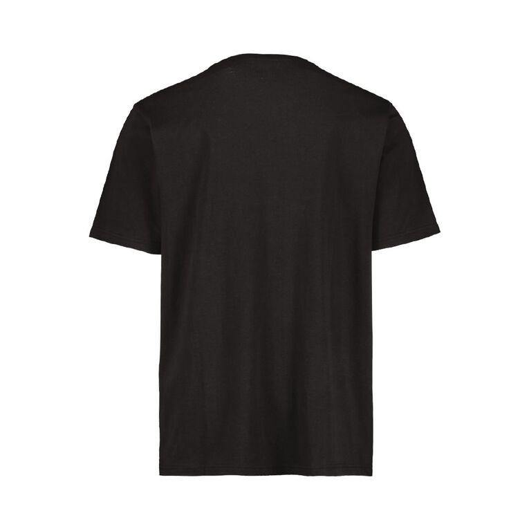 H&H Crew Neck Short Sleeve Printed Tee, Black, hi-res