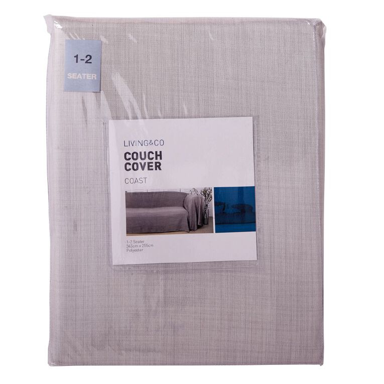 Living & Co Couch Cover Beige 2- 3 Seat, Beige, hi-res image number null