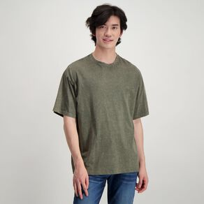 Garage Men's Acid Washed Relaxed Fit Tee