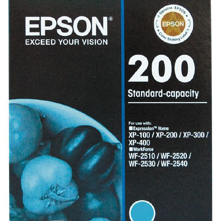 Epson Ink 200 Cyan (165 Pages), , hi-res