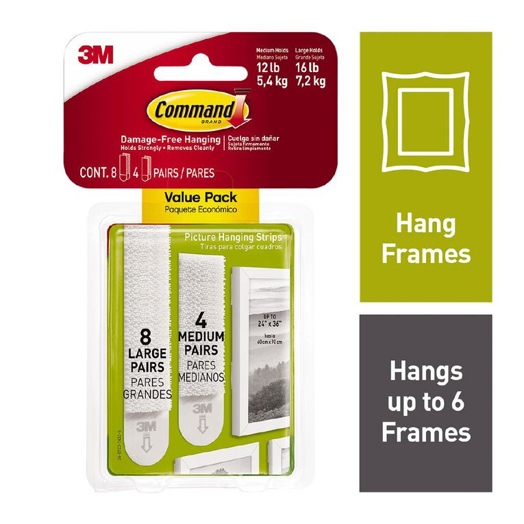 Command Picture Hanging Strips Value Pack Large and Medium 17209-ES, , hi-res