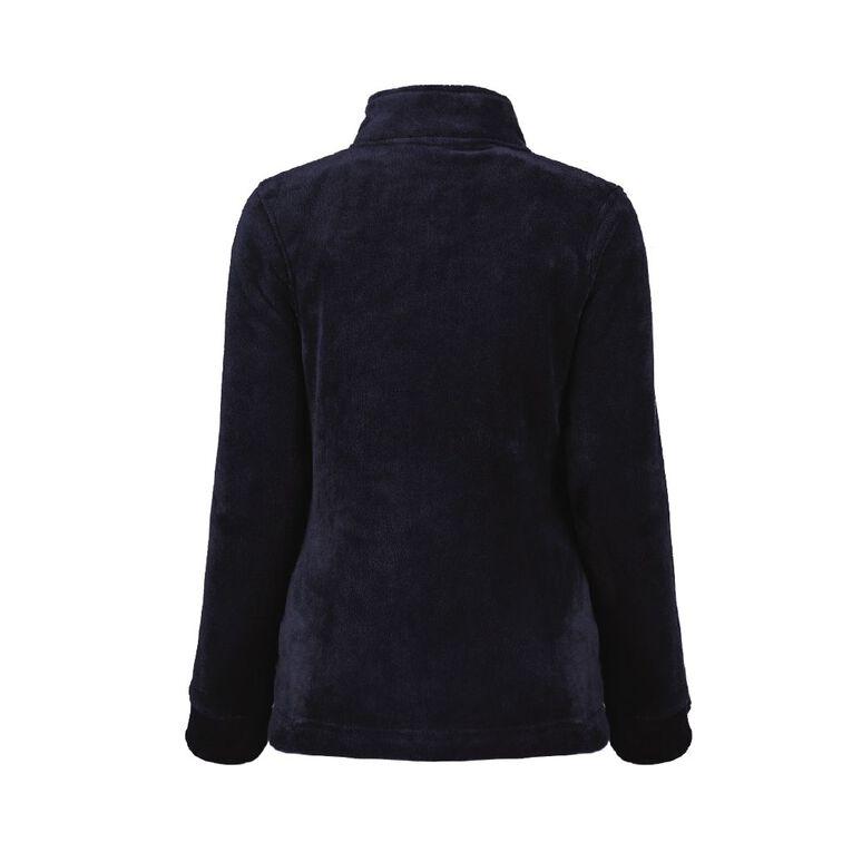 Pickaberry Women's Heavenly ZipThru Fleece, Blue Dark, hi-res image number null