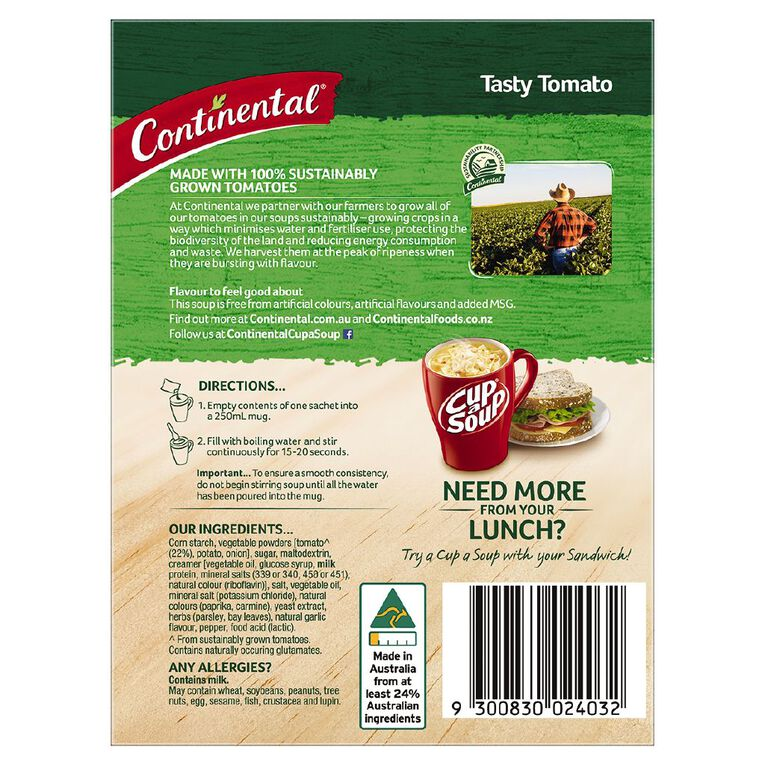 Continental Cup A Soup Tasty Tomato 2 Pack 54g, , hi-res